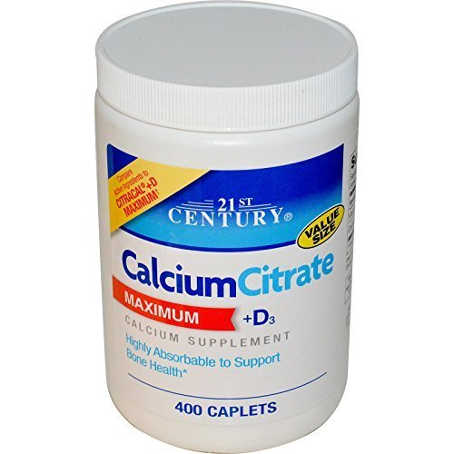 21st Century Calcium Citrate Plus D Maximum Caplets, 400 Count by 21st Century - City Stores Century