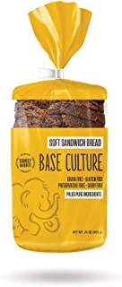 product image for Base Culture Paleo Bread, Large Size   Delicious 100% Paleo, Gluten, Grain, Dairy, and Soy Free- Perfect for Sandwiches (5g Protein Per Loaf, 18 Slices Per Loaf, 6 Count)