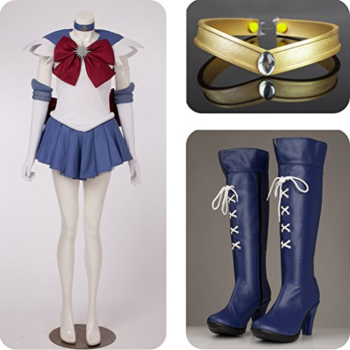 Sailor Moon Sailor Saturn Tomoe Hotaru Costumes Set for Cosplay by Supers life