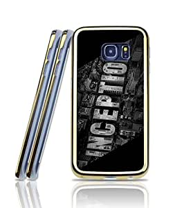 Film Inception Funda Case For Galaxy S6 Edge, Anti Scratch 2 in 1 [Golden - Bordered] Magnetic + Exclusive Pattern Slim Fit Shell Protective Skin Funda Case [Only Fit For S6 Edge]