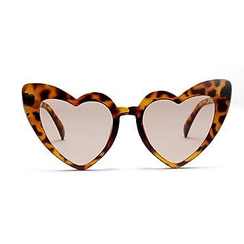 kuxi B Moda con Forma de corazón Gafas de Sol Mujer ...