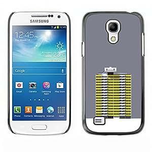 Shell-Star Art & Design plastique dur Coque de protection rigide pour Cas Case pour SAMSUNG Galaxy S4 mini VERSION! / i9190 / i9192 ( Grey Yellow Building Robot Art Grey )