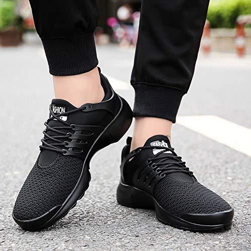 Bianco Moda Sportive Nero Mocassini Maglia Nero Uomini 46 di Scarpe Casual Uomo Lace Sneakers 39 Scarpe ASHOP Traspiranti EU Gli Up Scarpe Scarpe Rosso EU 0aUSxT