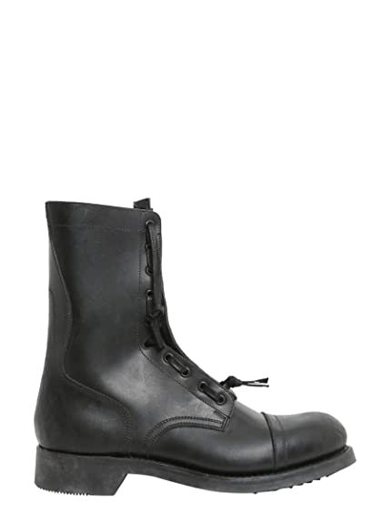 e4a0432f6e9f6 Maison Margiela Men's S37wu0298sy0788900 Black Leather Ankle Boots ...