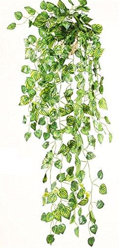 Review Zeroyoyo Pet Supplies Reptile Artificial Fruit Plants Vines Landscaping Ornament Plastic Leaves Boston Ivy