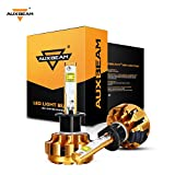 Automotive : Auxbeam H1 P145S LED headlight bulbs F-16 Series LED Headlights with 2 Pcs of Headlight Conversion Kits 60W 6000lm CREE LED Chips Driving Light (Pack of 2) - 1 Year Warranty