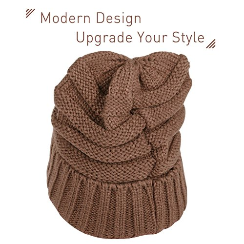 Zodaca Unisex Oversized Wavy Cable Knit Slouchy Beanie Knit Hat Skull Cap for Men and Women, ()