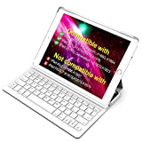 Inateck iPad Keyboard Case for 9.7'' iPad 2018(Gen 6)/iPad 2017(Gen 5) and iPad Air 1 with Intelligent Magnetic Switch iPad Keyboard Cover,Light Grey