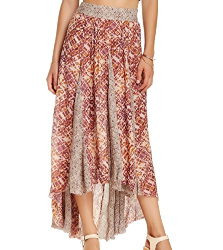 Free-People-Womens-Show-You-Off-Maxi-Skirt-Sand-Combo-Size-X-Small