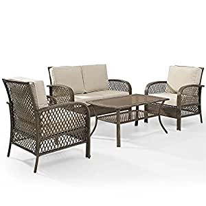 Crosley Furniture KO70037DW-SA Tribeca Seating Set