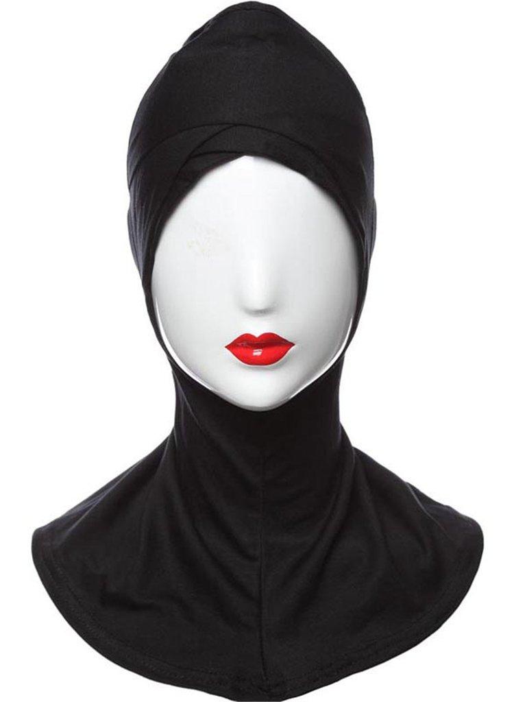 Fortuning's JDS estilo islámico cabeza turbante cubierta completa elegante desgaste del cuello cubierta de pecho sombrero capo casquillo hiyab en virtud de la bufanda de las mujeres Fortuning' s JDS