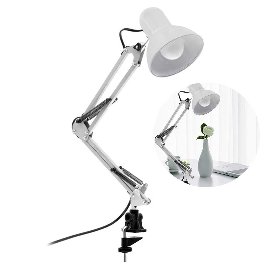 Ampoule /à LED incluseRed LIGUOPIN Lampe de Bureau Multi-Articulation avec Bras pivotant Lampe de Bureau mont/ée sur Table Lampe /à Bras Flexible//Lampe de Bureau//Bureau//Studio