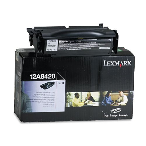 Lexmark 12A8420 Toner Cartridge, Black - in Retail Packaging