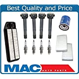 OHV U /& 2 Mac Auto Parts 157862 New Spark Plug Wires Plugs Coil Filters for 01-07 Taurus 3.0L Vin