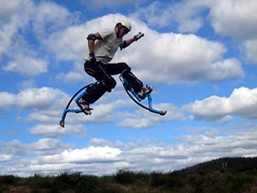 Skyrunner NEW MODEL Jumping Stilts POGO STILTS Kangaroo Shoes Bouncing stilts Men Women Fitness Exercise Black (laod weight:85-90KG/187-198LBS) by Skyrunner (Image #2)