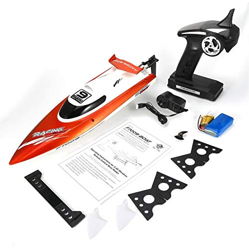 Feilun FT009 2.4G 4CH RC Racing Boat 30km/h Super Speed Electric RC Boat Toy Orange ()
