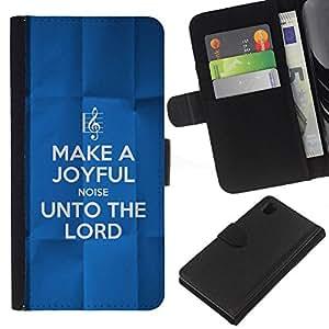 BearCase / Cuero de la tarjeta la carpeta del tirón Smartphone Slots Protección Holder /// Sony Xperia Z1 L39 /// BIBLIA para el Señor