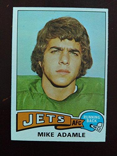 Mike Adamle  Football Card  1975 Topps  307   New York Jets   Northwestern Wildcats