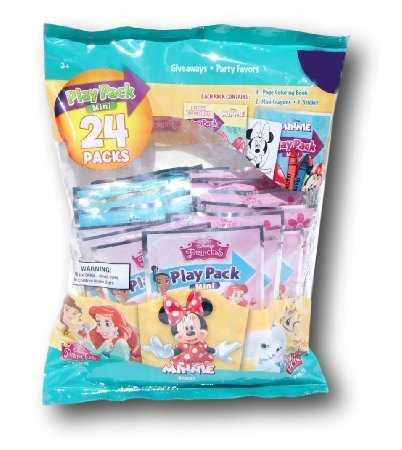 Party Favor Play Pack - Disney - 24 Mini Packs