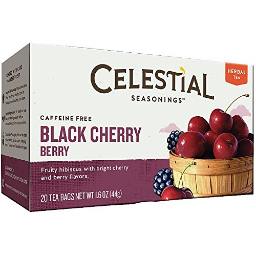 Celestial Seasonings Herbal Tea Caffeine Free Black Cherry Berry -- 20 Tea Bags