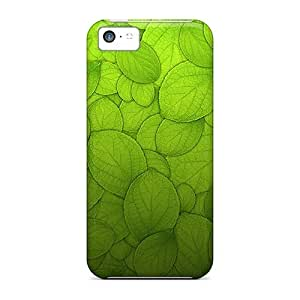 Iphone 5c Case Bumper Tpu Skin Cover For Green Leaves Accessories