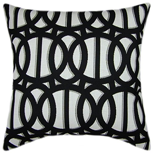 Sunbrella Reflex Classic Black & White Indoor/Outdoor Pillow - 16x16