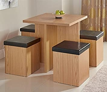 Stylish Stockholm Stowaway Dining Set 5pc Perfect For The Kitchen Or Dining Room