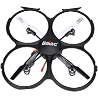 Howley U818A-HD 2.4GHz 4 CH 6 Axis Gyro Headless RC Quadcopter Drone with 720P HD Camera (Black)