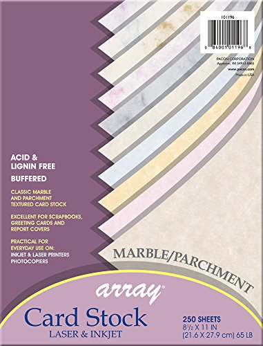 (Pacon Card Stock, Marble and Parchment Jumbo Assortment, 10 Colors,  8-1/2