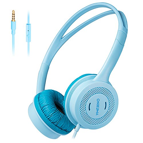 Kids Headphones,Wired On-Ear Children Headphones with Microphone, 85db Volume Limited Hearing Protection, Safe Food Grade Material, Stereo Sound, 3.5mm Audio Jack Headset for Children Toddler Baby