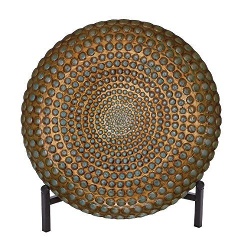Decorative Plate on Stand with Turquoise Studs