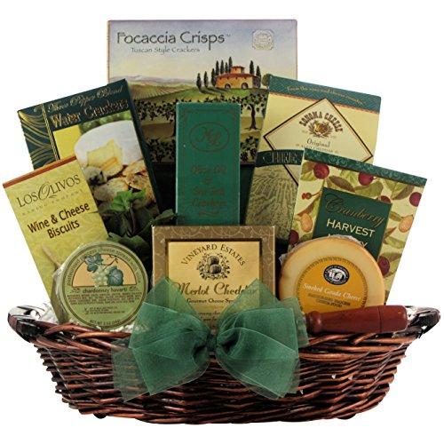 GreatArrivals Cheese Delights Gourmet Holiday & Christmas Gift Basket