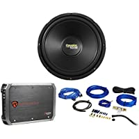 Coustic By MTX C124 12 500 Watt High Performance Subwoofer+Amplifier+Amp Kit