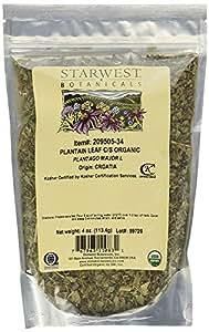 Starwest Botanicals Organic Plantain Leaf Cut, 4 Ounces