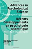002: Advances in Psychological Science, Volume 2: Biological and Cognitive Aspects