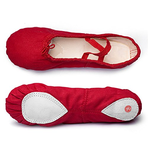 Flat Shoes Practise Msmushroom Ballet Classic Red Dance Yoga qtnAwHt4