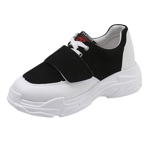 POLP Calzado Zapatos Mujer Cuña Deportivos Zapatillas Running para Mujer Aire Libre y Deporte Transpirables Casual Zapatos Gimnasio Correr Sneakers Marron ...