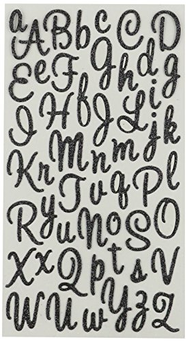 Sticko Sweetheart Black Script Alphabet -