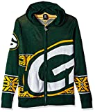 Green Bay Packers Full Zip Hooded Sweater Medium