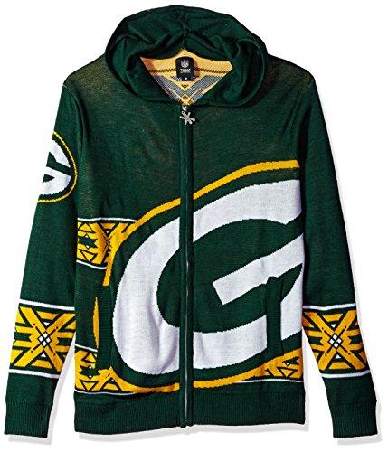 b847c2ab Green Bay Packers Full Zip Hooded Sweater Medium | Packer Fan Cave