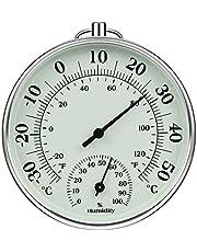 iMangoo Hygrometer thermometer 10 cm indoor outdoor, vochtigheidsthermometer binnen buiten temperatuur vochtigheidsmeter voor klimaatmonitor vochtigheid thermometer gauge indicator temperatuurmonitor