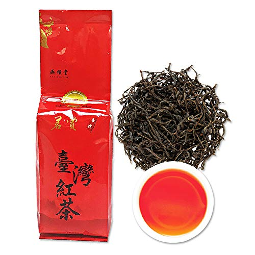 Yan Hou Tang Organic Taiwan Sun Moon Lake Red Jade Black Tea Leaves Loose Leaf 75g 30 Servings - Nature Alpine High Mountain Unique Honey Flavor Sachet English Breakfast Half Fermented Caffeine Medium