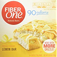 8-Pack Fiber One 90 Calorie, Lemon Bar, 0.89 Ounce, 6 Count