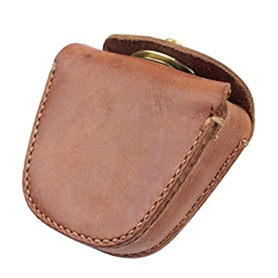 Limited Edition Handmade Thick Genuine Leather Belt Ammo Pellet Pouch for Slingshot Balls Rifle