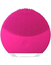 FOREO LUNA mini 2 Facial Cleansing Brush, Gentle Exfoliation and Sonic Cleansing for All Skin Types, Fuchsia