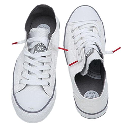 XIE Zapatos De La Señora Clásico De Verano Zapatos De Lino Movimiento Ocio Cómodo Estudiantes Escuela De Compras Tres Colores, White, 35 WHITE-39