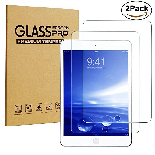 iPad Mini Screen Protector, [2-Pack] Sincase 2.5D Curved Edge HD Premium iPad mini 2 / 3 Tempered Glass Screen Protector Crystal Clear 9H 0.26mm Anti-Scratch Shatterproof Bubble-free Screen Film