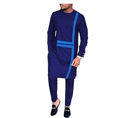 34983245b8 African Ankara Print Men Casual Set Tailor Made Full Sleeve Long Top+Full  Length Pants