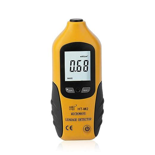 HT-M2 Amarillo Pantalla LCD digital Detector de fugas de microondas Probador del medidor de radiaci/ón de alta precisi/ón