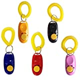 Penta Angel Pet Training Clicker Button Clicker with Wrist Strap, Train Dog, Cat, Horse, Pets for Clicker training (5 Pack)